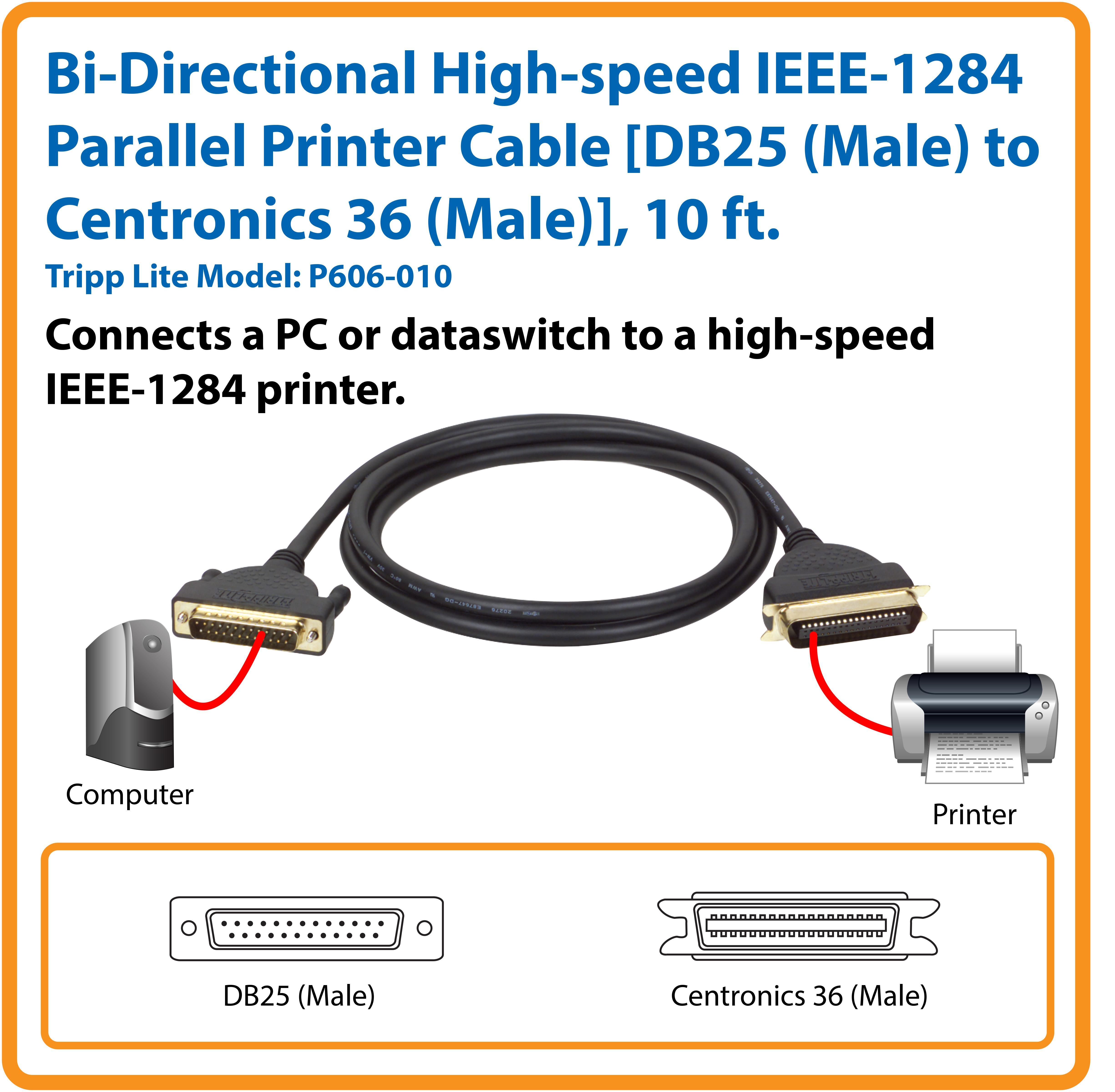 25 Pin Printer Cable Usb Adapter