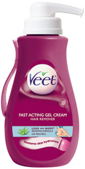 VEET Gel Cream Pump Sensitive Formula (13.5 Ounces) Product Shot