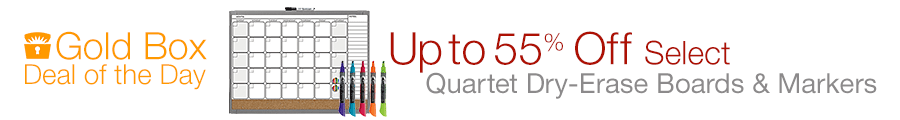 Deal of the Day: Up to 55% Off Select Quartet Dry Erase Boards & Markers