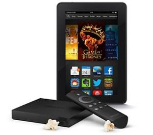 Amazon Fire TV & Kindle Fire HDX Wi-Fi 16GB Bundle