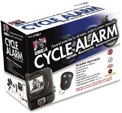 Gorilla Automotive 7007 Motorcycle Alarm with Remote Transmitter box shot