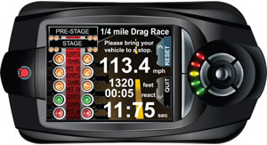 The Virtual Dragstrip functionality built into the DiabloSport T-1000 Trinity Dashboard Tuner and Diagnostic Tool