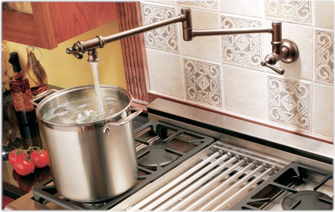 moen S664 stove lg White Moen Kitchen Faucet