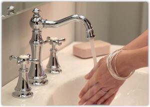 moen ts42108 weymouth two handle high arc bathroom faucet trim kit without valve chrome