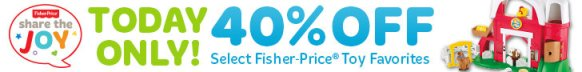 Gold Box Deal of the Day: Save 40% on Fisher-Price Toy Favorites