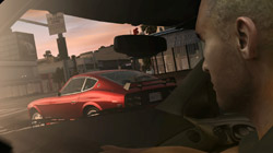 View through the windshield in 'Midnight Club: Los Angeles'