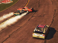 Burning rubber on the track in NASCAR The Game 2011