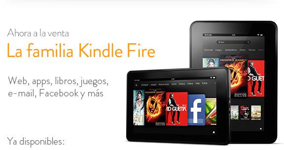 La familia Kindle Fire, ahora a la venta