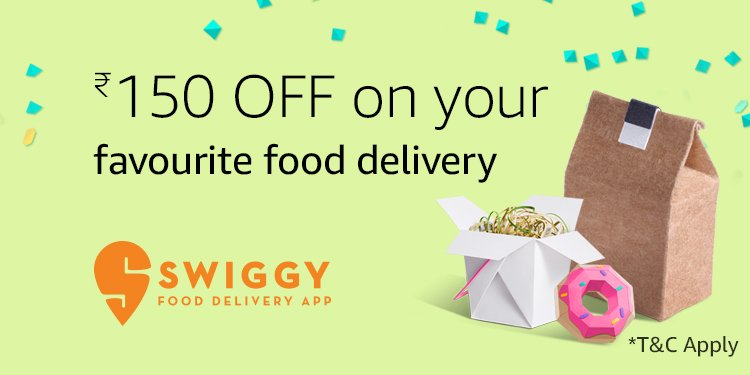 Get Rs.150 Off Swiggy food delivery