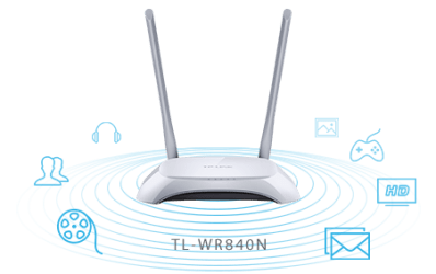 TP-Link TL-WR840N 300Mbps Wireless N Router (White/Grey ...