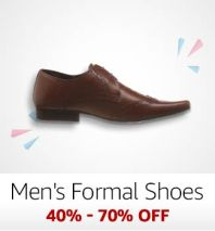 Men's Formal Shoes: 40%-70% off