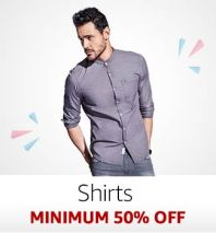 Shirts: Minimum 50% off