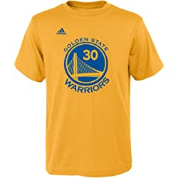 Stephen Curry Golden State Warriors Youth Adidas NBA Player Gold T-Shirt