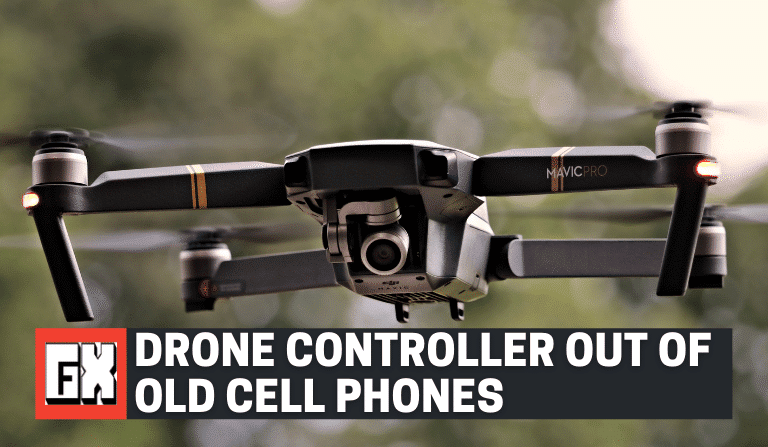 Drone Remote Controller Out Of Old Cell Phones