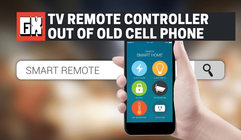 TV Remote Controller Out Of Old Cell Phone