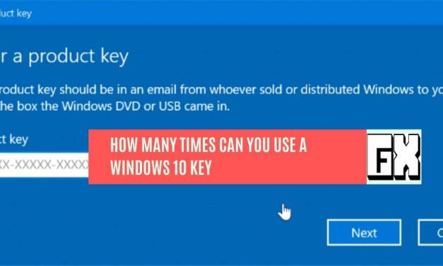 How Many Times Can You Use A Windows 10 Key