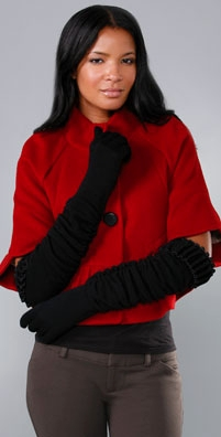 Alice + Olivia Scrunch Knit Glove