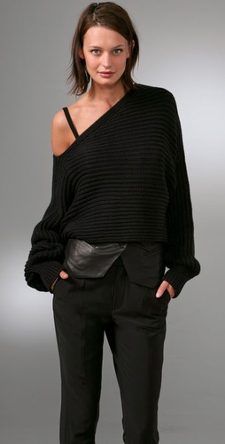 Alexander Wang Asymmetrical Cropped Pullover Sweater
