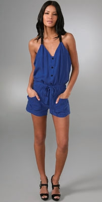Side Drape Romper