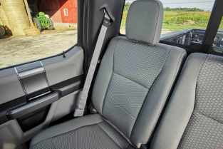 All-new 2017 Ford F-Series Super Duty offers a new interior design, including a dual compartment glove box and overhead console-mounted auxiliary switches to operate aftermarket equipment.