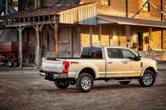 All-new 2017 Ford F-350 Super Duty King Ranch Crew Cab 4x4 single-rear-wheel pickup offers Ford's authentic, Texas-inspired luxury package that pays tribute to the pioneering spirit, stewardship and agricultural leadership of the historic King Ranch.