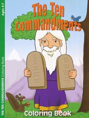 10 Commandments craft ideas Coloring Book