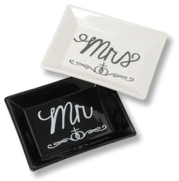 Mr. & Mrs. Trinket Dishes   -