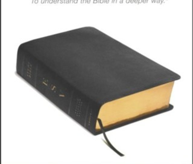 Esv Study Bible Black Genuine Leather Indexed