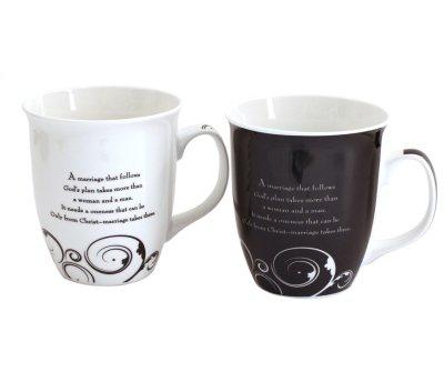 Mr. & Mrs. Mug Set, Marriage Takes Three  -