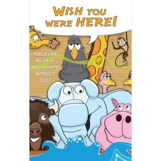 Noah's ark wish you were here postcard