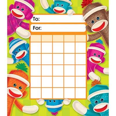 Sock Monkeys Incentive 36 Charts