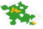 Coronavirus traffic light as of September 11, 2020. South Moravia shines more than half of green.