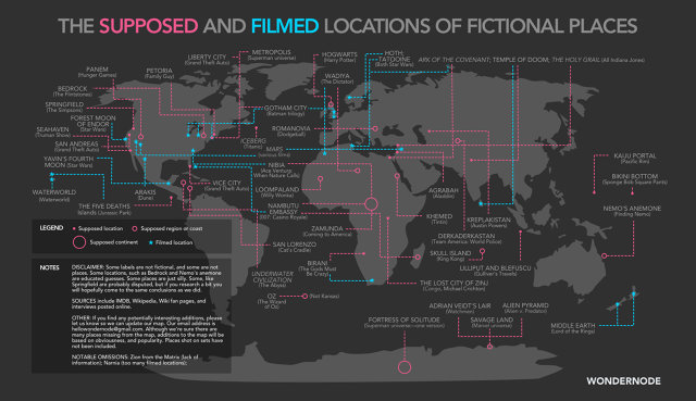 A Map Of Your Favorite Fictional Places, From Oz To Loompaland | Co.Design | business + design