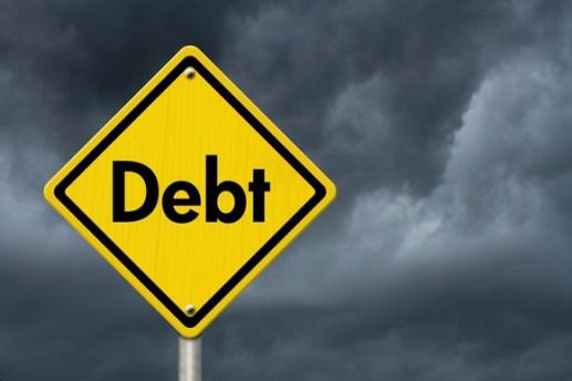 Debt sign