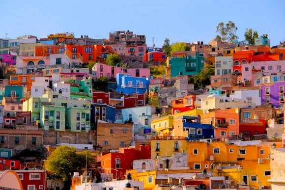 Colorful houses in Mexico