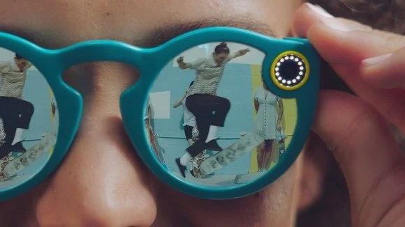 Someone wearing Snapchat's Spectacles recording someone doing tricks.