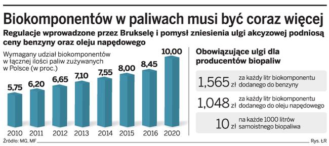 Certyfikacja biokomponentów w paliwach podniesie ceny na stacjach
