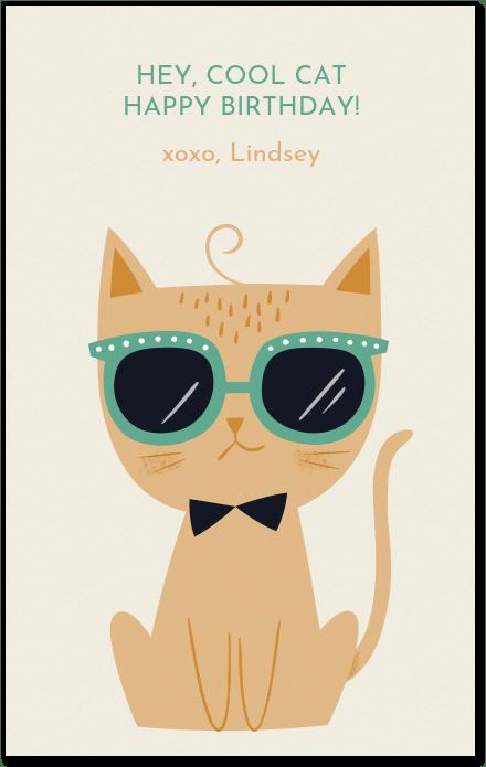 Cool Cat Bday Verjaardag Katten Verjaardagscitaten