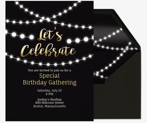 Free Birthday Milestone Invitations Evite