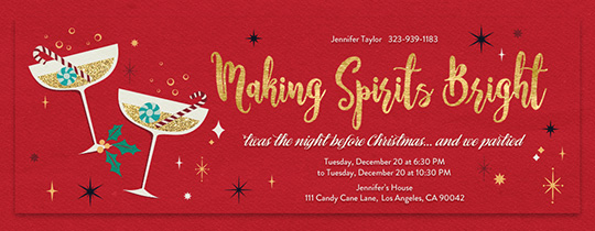 Free Office Holiday Party Online Invitations Evite