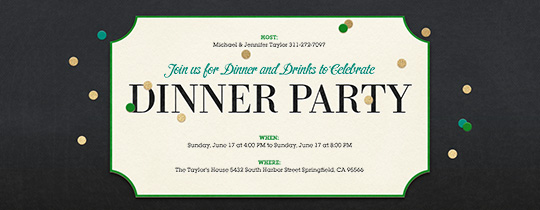 Dinner Party Template halloween party invitations template create – Free Dinner Invitation Templates