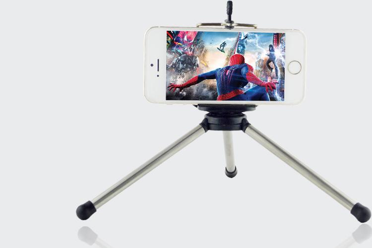 באיכות גבוהה מצלמה דיגיטלית מיני חצובה גמישה סטנד חצובה + טלפון קליפ עם 1/4 בורג עבור Iphone 6 5 4 4s טלפון נייד
