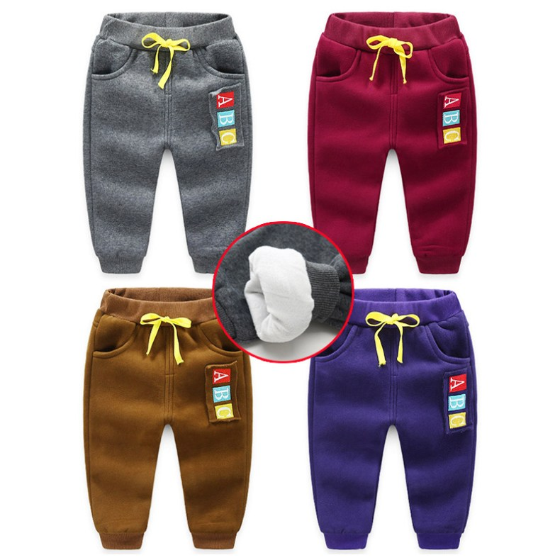 JGVIKOTO Kids Sports activities Pants Winter Child Boys Woman Heat Plus Thick Velvet Pants Chlidren Leggings Winter Colourful Pant HTB12xwjhnXYBeNkHFrdq6AiuVXa3