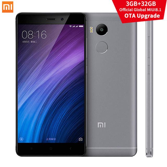 "Original Xiaomi Redmi 4 Pro Prime 3GB RAM 32GB ROM Snapdragon 625 4100mAh FHD 5.0"" 13.0MP OTA MIUI 8.1 Xiomi Redmi4 Mobile Phone"