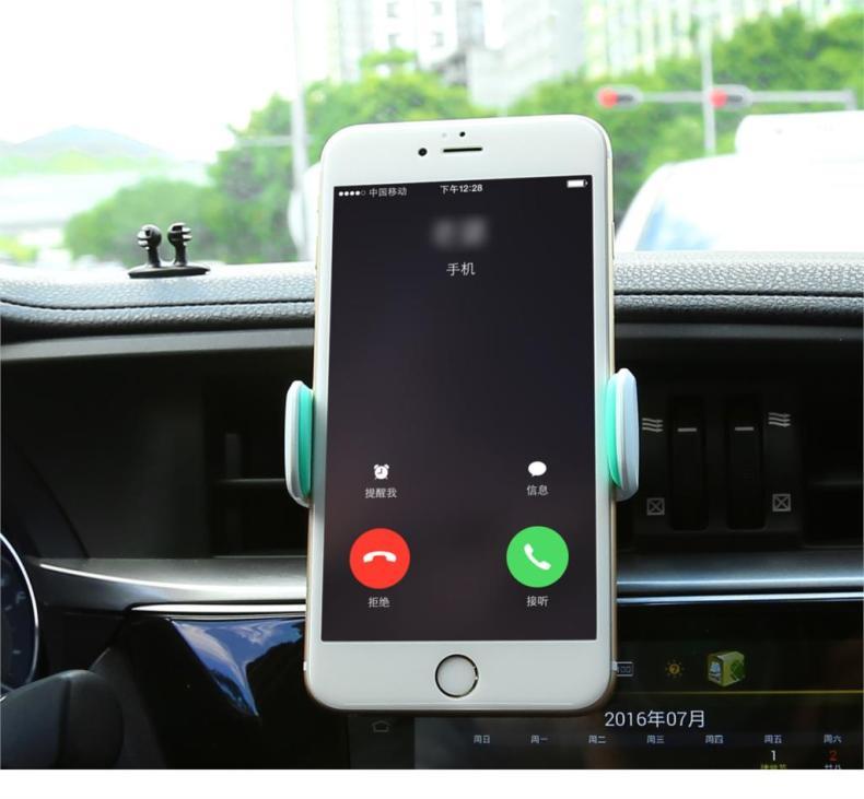 Baseus נייד טלפון המכונית בעל 360 מעלות מתכווננת Soporte המוביל המכונית-עיצוב המכונית המחוונים אוורור, בעל הר לעמוד