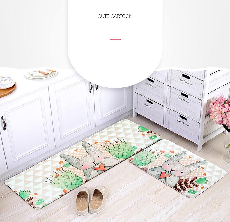 fairy tale style kid bedroom cute rabbit carpet indoor area villus carpets kitchen bathroom non skid door mats washable rugs us804