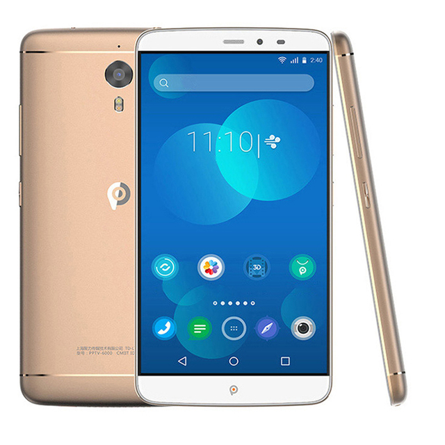 Original PPTV King 7 Helio X10 MTK6795 2.0GHz Octa Core 6.0 Inch 2.5D IPS 2K Screen 3GRAM 32G ROM Android 5.1 4G LTE Mobilephone
