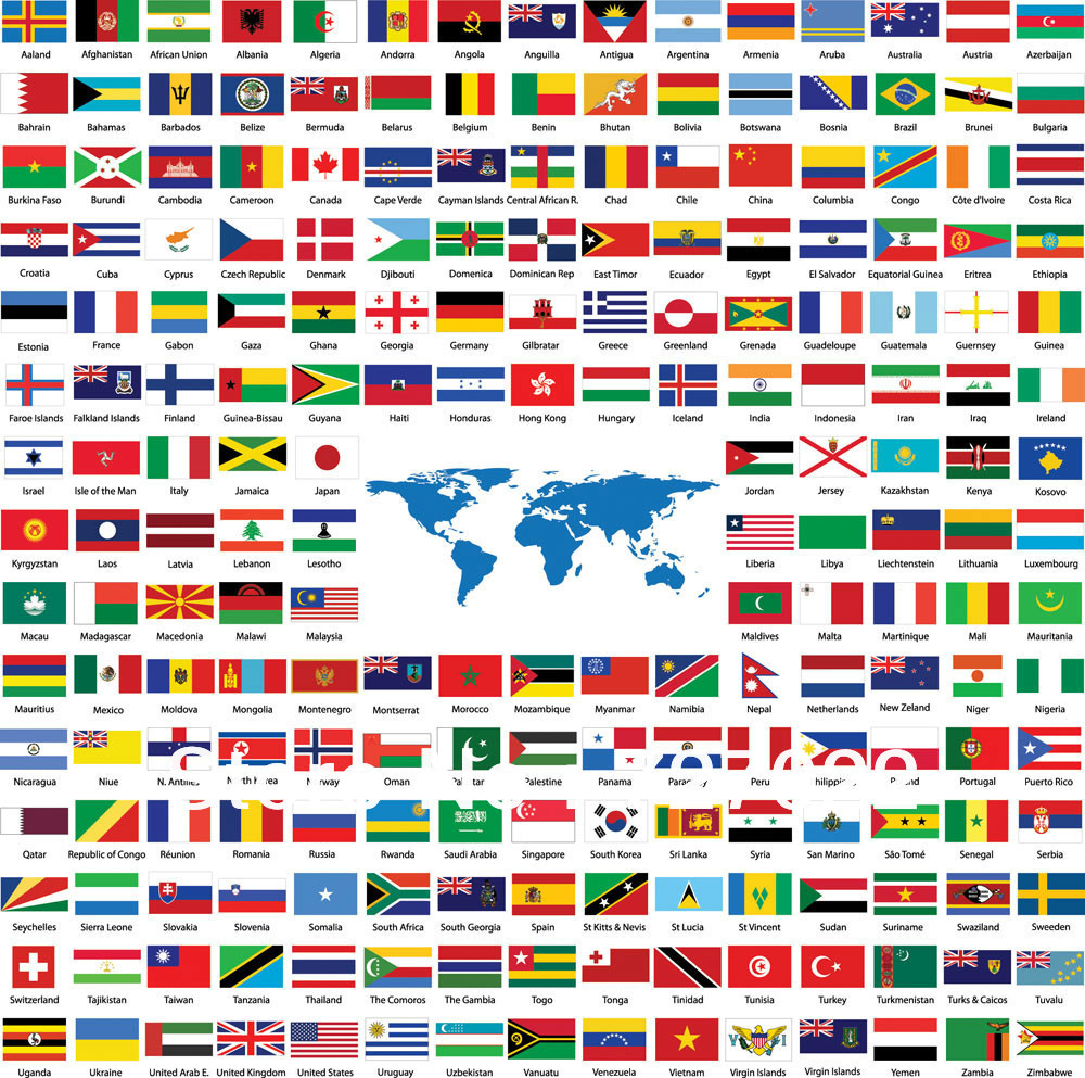 Hot Selling wholesale worldwide cloth country flag, Various ...