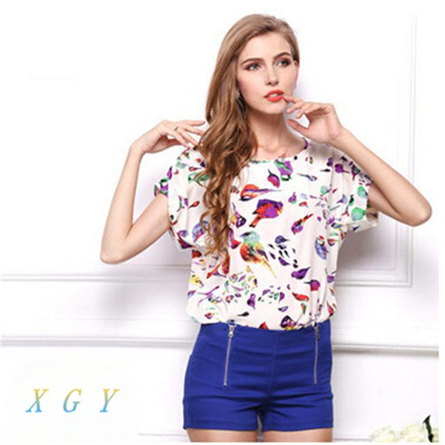 Новые Моды для Женщин Весна Лето Шифон Блузка Повседневная Рубашка Топы Свободные Ретро Печати Блузка Плюс Размер M, чтобы 2XL CC2001