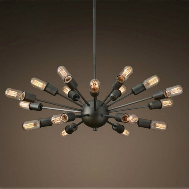 Chandeliers Black Wrought Iron Lighting Vintage Metal Large Antique Chandelier For Home Indoor Decor With
